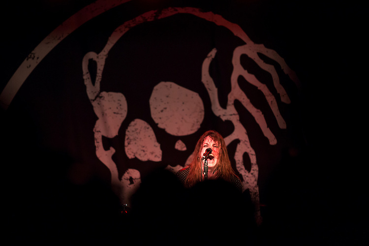 Durham, North Carolina - Sunday May 15, 2016 - Against Me! singer Laura Jane Grace performs Sunday night during their show Sunday night at Motorco in Durham. The band kept their scheduled tour date in Durham and used the show as a platform to protest North Carolina House Bill 2.