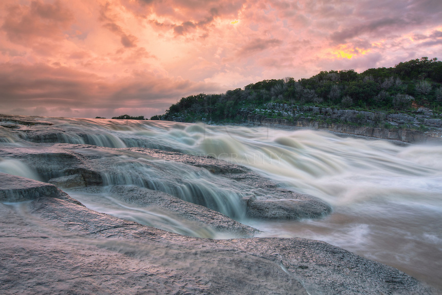 With El Nino making its presence known, rains flooded the Texas Hill Country in May of 2015. This image comes from Pedernales Falls State Park as the river was flowing at a high rate.