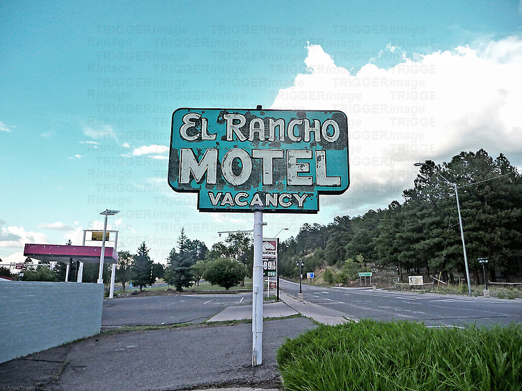 Old motel sign in USA