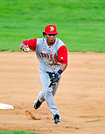 21 August 2010: Brooklyn Cyclones infielder Wilfredo Tovar in action against the Vermont Lake Monsters at Centennial Field in Burlington, Vermont. The Cyclones defeated the Lake Monsters 8-7 in a 12-inning game that had to be resumed in Brooklyn on August 31 due to late inning rain. Mandatory Credit: Ed Wolfstein Photo