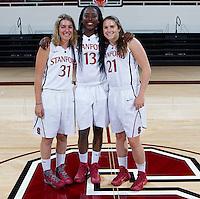 Seniors members of the Stanford Women's basketball team photo. Photo taken on Wednesday, October 2, 2013