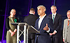 Mayor of London and London Assembly results announcement at City Hall, London, Great Britain <br /> 6th May 2016 <br /> <br /> <br /> Sian Berry - Green Party <br /> <br /> Paul Golding - Britain First <br /> <br /> Zac Goldsmith - Conservative<br /> <br /> Lee Harris - CISTA<br /> <br /> Sadiq Khan - Labour <br /> <br /> <br /> The winner was Sadiq Khan who is appointed the new mayor of London <br /> <br /> <br /> <br /> Photograph by Elliott Franks <br /> Image licensed to Elliott Franks Photography Services