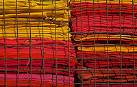 Colorful materials for whole sale in Jaisalmer, Rajasthan, India