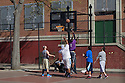 Basketball game in Brooklyn, NY