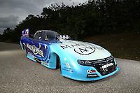 Jan 15, 2015; Jupiter, FL, USA; A portrait of the car of NHRA funny car driver Tommy Johnson Jr during preseason testing at Palm Beach International Raceway. Mandatory Credit: Mark J. Rebilas-USA TODAY Sports