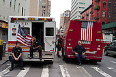 New  York, New York.September 11, 2011..Crowds gather at Ground Zero to mark the 10th anniversary of 9-11-2001 tragic attack on the US.