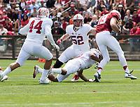 Stanford, CA - April15, 2017:  Kevin Palma (44) Casey Toohill (52) Jack Richardson (19) at Cagan Stadium.
