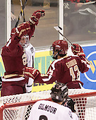 Pat Mullane (BC - 11), Johnny Gaudreau (BC - 13) - The Providence College Friars tied the visiting Boston College Eagles 3-3 on Friday, December 7, 2012, at Schneider Arena in Providence, Rhode Island.