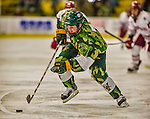 24 November 2013: University of Vermont Catamount Forward Tom Forgione, a Freshman from South Burlington, VT, in second period action against the University of Massachusetts Minutemen at Gutterson Fieldhouse in Burlington, Vermont. The Cats wore special camouflage jerseys to celebrate Military Appreciation Day. The game-worn jerseys were auctioned off with proceeds benefiting the Vermont Veterans Fund (VVF). The Catamounts shut out the Minutemen 2-0 to sweep the 2-game home-and-away weekend Hockey East Series. Mandatory Credit: Ed Wolfstein Photo *** RAW (NEF) Image File Available ***