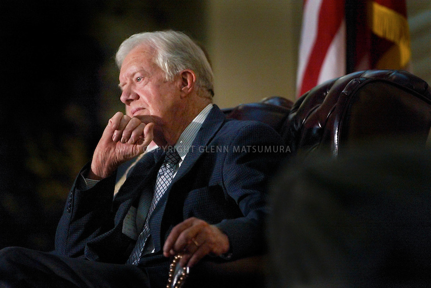 "James ""Jimmy"" Carter, Jr. (born October 1, 1924) served as the 39th President of the United States from 1977 to 1981 and was the recipient of the 2002 Nobel Peace Prize. He was the only U.S. President to receive the Prize after leaving office."