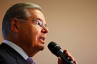 NORTH BERGEN, NEW JERSEY JUNE 6: Senator Robert Menendez speaks during a event with Chelsea Clinton before Tuesday primaries elections on June 6, 2016 in North Bergen, New Jersey. Democratic front-runner Hillary Clinton could have the number of delegates needed to secure the nomination after results in New Jersey (Photo by VIEWpress)