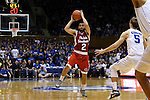 30 October 2015: Florida Southern's Michael Volovic. The Duke University Blue Devils hosted the Florida Southern College Moccasins at Cameron Indoor Stadium in Durham, North Carolina in a 2015-16 NCAA Men's Basketball Exhibition game. Duke won the game 112-68.