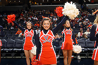Nov. 14, 2010; Charlottesville, VA, USA;  Cheerleaders cheer the crowd during the Virginia vs. Mount St. Mary's game at the John Paul Jones Arena.  Mandatory Credit: Andrew Shurtleff