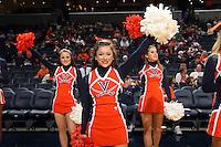 Nov. 14, 2010; Charlottesville, VA, USA;  Cheerleaders cheer the crowd during the Virginia vs. Mount St. Mary's game at the John Paul Jones Arena.  Mandatory Credit: Andrew Shurtleff