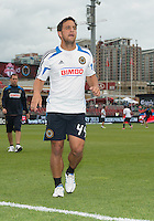 15 September 2012: Philadelphia Union midfielder/forward Daniel Cruz #44 after the warm-up in an MLS game between the Philadelphia Union and Toronto FC at BMO Field in Toronto, Ontario..The game ended in a 1-1 draw..