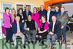 Enjoying the Kerry Cheshire 20th Anniversary party on Saturday night were front row l-r: Haulie Fitzpatrick, Tim O'Sullivan, Karen O'Donoghue, Con Collins. Back row: Brid Fitzpatrick, Cathy O'Sullivan, Siobhain Moore, Michael Gleeson, Roisin Moore, Jim Sheehy, Paddy quinn, Timmy Moore, Gerry Courtney