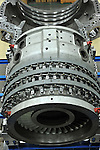 These are various views of the SGT-8000H gas turbine under construction.