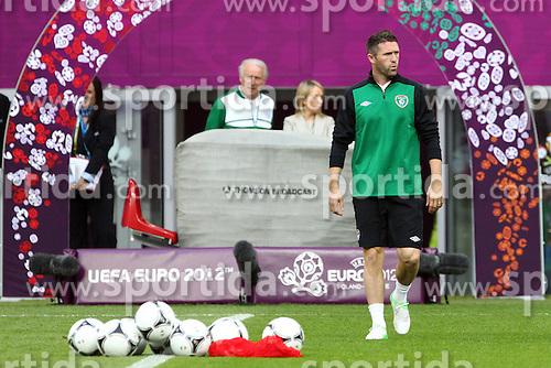 09.06.2012, Stadion Miejski, Poznan, POL, UEFA EURO 2012, Irland, Training, im Bild ROBBIE KEANE // during the during EURO 2012 Trainingssession of Ireland Nationalteam, at the stadium Miejski, Poznan, Poland on 2012/06/09. EXPA Pictures © 2012, PhotoCredit: EXPA/ Newspix/ Jakub Piasecki..***** ATTENTION - for AUT, SLO, CRO, SRB, SUI and SWE only *****