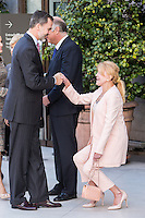 Hungarian President Janos Ader, wife Anita Herczegh
