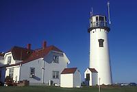 AJ1508, lighthouse, Cape Cod, Massachusetts, Chatham Light in Chatham along the Atlantic coast, Massachusetts.