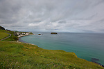 A view from the trail leading up to the Carrick-a-Rede Rope Bridge in Ballintoy, County Antrim, Northern Ireland on Saturday, June 22nd 2013. (Photo by Brian Garfinkel)