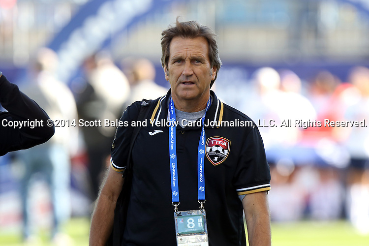 26 October 2014: Trinidad & Tobago Randy Waldrum (USA). The Trinidad & Tobago Women's National Team played the Mexico Women's National Team at PPL Park in Chester, Pennsylvania in the 2014 CONCACAF Women's Championship Third Place game. Mexico won the game 4-2 after extra time. With the win, Mexico qualified for next year's Women's World Cup in Canada and Trinidad & Tobago face playoff for spot against Ecuador.