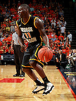 CHARLOTTESVILLE, VA- DECEMBER 6: Vertrail Vaughns #11 of the George Mason Patriots handles the ball during the game on December 6, 2011 against the Virginia Cavaliers at the John Paul Jones Arena in Charlottesville, Virginia. Virginia defeated George Mason 68-48. (Photo by Andrew Shurtleff/Getty Images) *** Local Caption *** Vertrail Vaughns