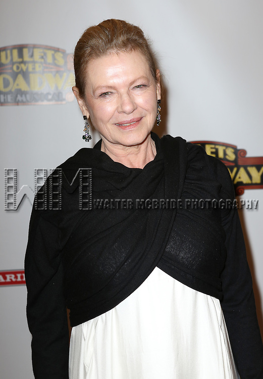 Dianne Wiest attending the Broadway Opening Night Performance of ''Bullets Over Broadway' at the St. James Theatre on April 10, 2014 in New York City.