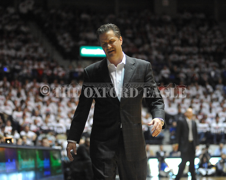 Ole Miss vs. Kentucky head coach John Calipari at the C.M. &quot;Tad&quot; Smith Coliseum on Tuesday, January 29, 2013.