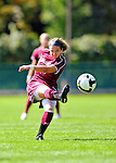 19 September 2010: Colgate University Raider midfielder/forward Alyssa Manoogian, a Sophomore from Peabody, MA, in action against the University of Vermont Catamounts at Centennial Field in Burlington, Vermont. The Raiders scored a pair of second half goals two minutes apart to notch a 2-0 victory over the Lady Cats in non-conference women's soccer play. Mandatory Credit: Ed Wolfstein Photo