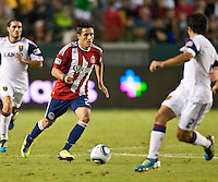 CARSON, CA – August 27, 2011: Chivas USA forward Marcos Mondaini (23) during the match between Chivas USA and Real Salt Lake at the Home Depot Center in Carson, California. Final score Chivas USA 0, Real Salt Lake 1.