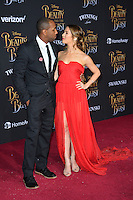 Allison Holker &amp; Stephen Boss at the premiere for Disney's &quot;Beauty and the Beast&quot; at El Capitan Theatre, Hollywood. Los Angeles, USA 02 March  2017<br /> Picture: Paul Smith/Featureflash/SilverHub 0208 004 5359 sales@silverhubmedia.com