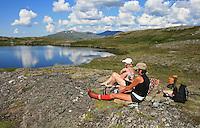 Ved Stortjennin på Høgfjellet, Skarvene og Roltdalen nasjonalpark. Skarvan.