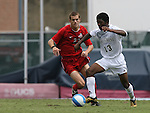 Wake Forest's Michael Lahoud (13) and Ohio State's Eric Brunner (23) on Sunday September 3rd, 2006 at Fetzer Field on the campus of the University of North Carolina Chapel Hill in Chapel Hill, North Carolina. The Wake Forest University Demon Deacons defeated the Ohio State University Buckeyes 3-2 after overtime in an NCAA Division I Men's Soccer game.