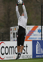 Pat Onstad#0 of D.C. United during a second round match of the Carolina Challenge against the Chicago Fire on March 9 2011 at Blackbaud Stadium, in Charleston, South Carolina. D.C. United won 1-0.