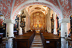 Baroque interior of the Crkva sv. Katarine [ Church St. Catherine ]. Painting above altar by Andrew Jelov?ek.  Gradec , Zagreb, Croatia