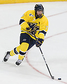 Karl Stollery (Merrimack - 7) - The University of Notre Dame Fighting Irish defeated the Merrimack College Warriors 4-3 in overtime in their NCAA Northeast Regional Semi-Final on Saturday, March 26, 2011, at Verizon Wireless Arena in Manchester, New Hampshire.