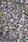 Pebbles on beach.  Gataga River.  Muskwa-Kechika Management Area. Northeast British Columbia.