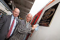 Pictured at the 175th Anniversary of Derby's Railways train naming event is Time Sayer (left), Engineering Director for East Midlands Trains with Paul Atterbury of the Antiques Roadshow, who are currently filming in Derby