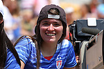 16 August 2015: U.S. fan. The United States Women's National Team played the Costa Rica Women's National Team at Heinz Field in Pittsburgh, Pennsylvania in an women's international friendly soccer game. The U.S. won the game 8-0.