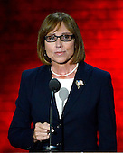 Sher Valenzuela, who is running as the Republican candidate for lieutenant governor of Delaware, makes remarks at the 2012 Republican National Convention in Tampa Bay, Florida on Tuesday, August 28, 2012.  .Credit: Ron Sachs / CNP.(RESTRICTION: NO New York or New Jersey Newspapers or newspapers within a 75 mile radius of New York City)