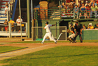 #8 Robbie De La Cruz  batts a run.