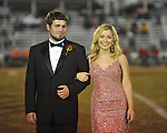 Senior maid Alex Drewrey (right) with escort Hunter Foley at Lafayette High vs. Tunica Rosa Fort in Oxford, Miss. on Friday, October 5, 2012. Lafayette High won 35-6.