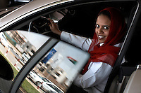Dalia Sayed Abugabal, Senior Sales Executive of DAL Motor Co. Ltd in Khartoum. The Mercedes dealership is seeing an increase in sales of luxury cars.