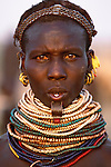 Bumi tribeswoman, Lower Omo River, Ethiopia