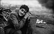 VALENTIN DOBRE, A ROMANIAN EMPLOYEE OF THE GYPSIES. SINTESTI. ROMANIA. NOVEMBER 1996..©JEREMY SUTTON-HIBBERT 2000..TEL. /FAX.+44-141-649-2912..TEL. +44-7831-138817.