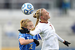 08 December 2013: Florida State's Dagny Brynjarsdottir (ISL) (7) and UCLA's Samantha Mewis (22). The Florida State University Seminoles played the University of California Los Angeles Bruins at WakeMed Stadium in Cary, North Carolina in a 2013 NCAA Division I Women's College Cup championship game.