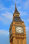 United Kingdom, Great Britain; England; London. Famous Big Ben clocktower, a London landmark.