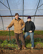 Jamie DeMent and Richard Holcomb of Coon Rock Farms, outside Hillsborough, N.C., Sunday, Jan. 9, 2011.