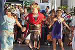 Children act out the mythology of the Greek gods at the Los Angeles Greek Festival at St. Sophia's Greek Orthodox Church in Los Angeles, CA